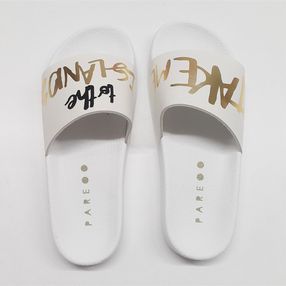 Take Me To The Islands Slide Shoes - Pop Up Life