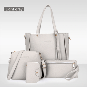 4 Pieces Leather  Handbag Set - Pop Up Life