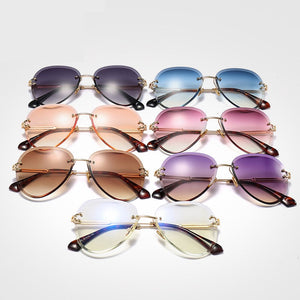Sunglasses Women Men Driving UV400 Sun Glasses Clear Vintage Glasses - Pop Up Life