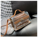 Clear Large Transparent PVC Shoulder Bags Women Candy Color Women Jelly Bags Purse Solid Color Handbags Travel Composite Bag - Pop Up Life
