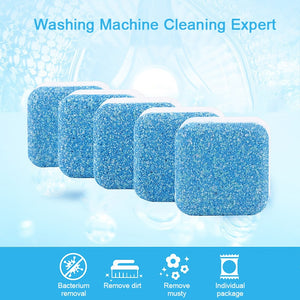 (Pack of 5) Tab washing machine cleaner laundry expert deep cleaning Detergent remover Effervescent Tablet Washer Cleaner - Pop Up Life