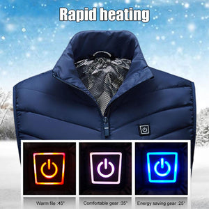 Heating Vest Washable Usb Charging Heating Warm Vest Control Temperature Outdoor Camping Hiking Golf (Without Battery) - Pop Up Life