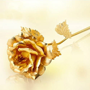 24K Foil Plated Rose Gold Rose - Valentine's Day Gift - Pop Up Life