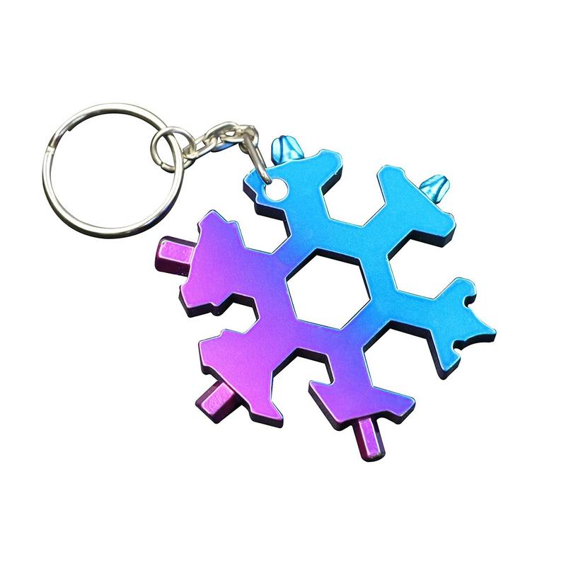 6 heads / 8 heads Snowflake Wrench Tool Innovative Outdoor Multi-Functional Gadget Keychain Outdoor Supplies - Pop Up Life