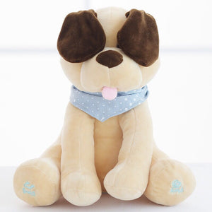30cm Electronic Peek a Boo Dog Plush Toy Dog Toys Ear Flapping Baby Kids Soft Electric Doll Birthday Gift For Children Kids Girl - Pop Up Life