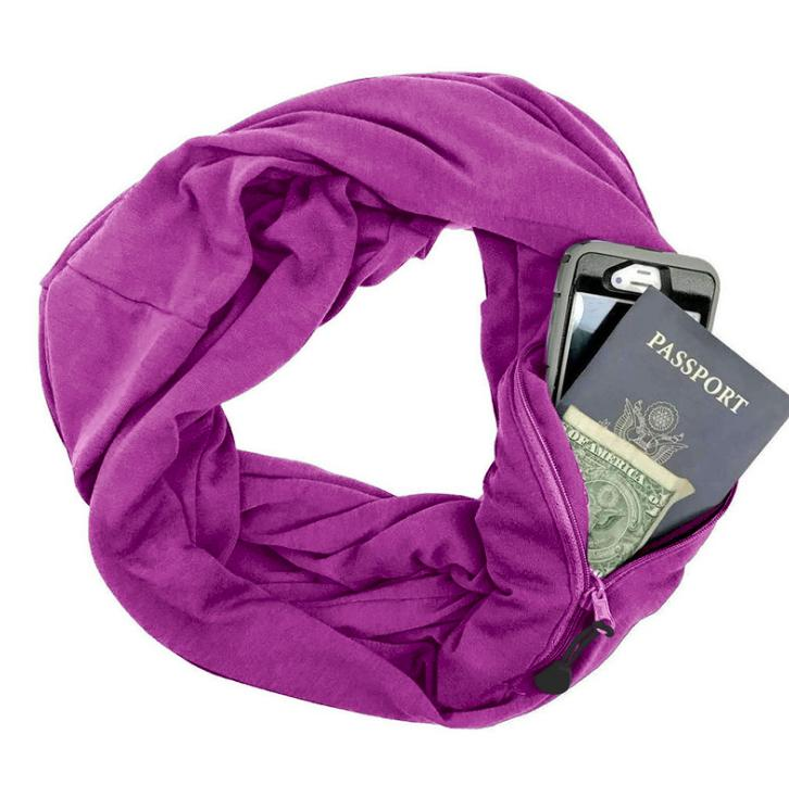 Multi-function Storage Zipper Scarf Multi-color Optional - Pop Up Life