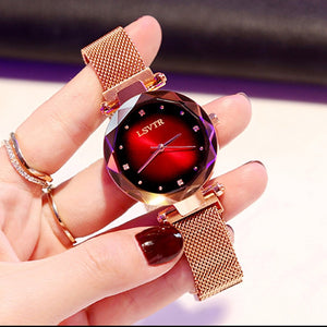 Luxury Rose Gold Women Watches Fashion Diamond Ladies Starry Sky Magnet Watch Waterproof Female Wristwatch For Gift Clock - Pop Up Life