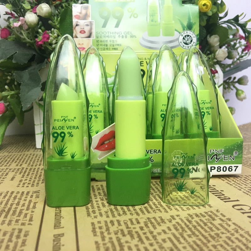 Aloe Vera Natural Moisturizer Lipstick Temperature Changed Color Lip Balm Natural Magic Pink Protector Lips Cosmetics - Pop Up Life