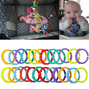 Baby Chewable Toothbrush Teether Teether teething ring mouth toy 24 pcs - Pop Up Life