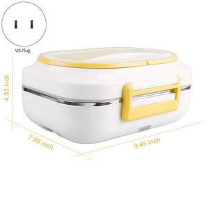 Three-compartment Heated Lunch Box Electric Heating Lunch Box Food Heater for Car Office - Pop Up Life