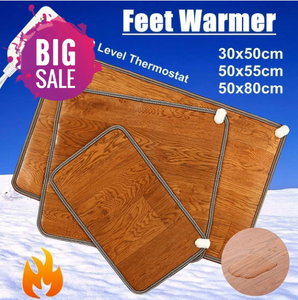 Leather Heating Foot Mat Warmer Electric Heating Pads Feet Leg Warmer Carpet Thermostat Warming Tools Home Office - Pop Up Life