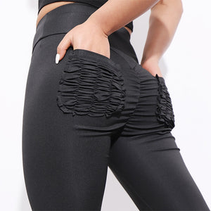 Sexy Push Up Fitness Leggings Women Pants High Waist Sporting Leggings Workout candy color Leggings Pockets S-XL - Pop Up Life