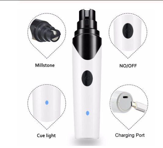 Rechargeable Nails Dog Cat Care Grooming USB Electric Pet Dog Nail Grinder Trimmer Clipper Pets Paws Nail Cutter - Pop Up Life