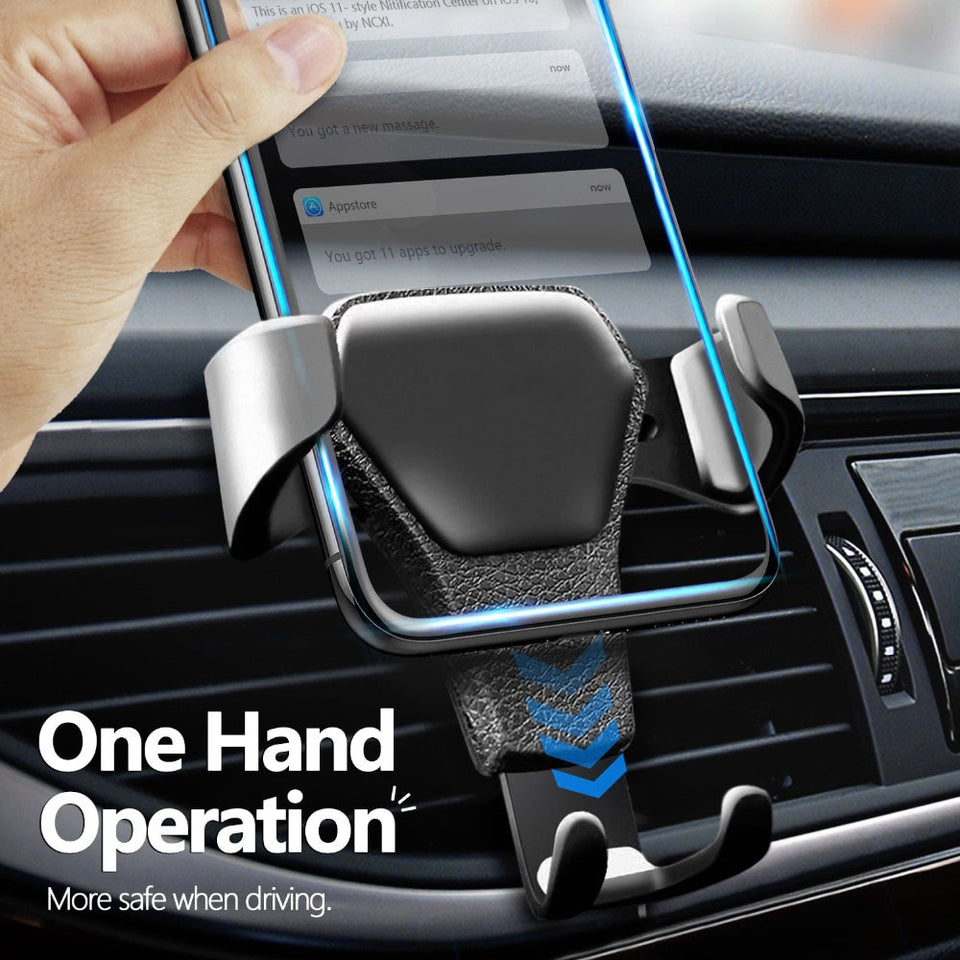 Gravity Car Holder For Phone in Car Air Vent Clip Mount No Magnetic Mobile Phone Holder Cell Stand Support - Pop Up Life