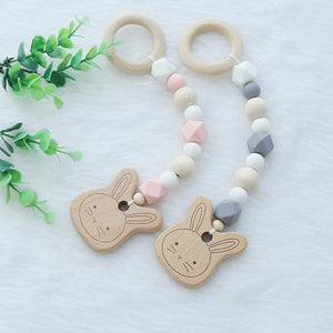Baby Rattle Wooden Toy - Pop Up Life