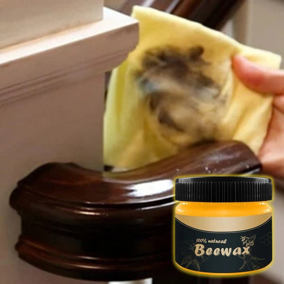 1 pcs Wood Seasoning Beewax Wood Care Wax Solid Wood Maintenance Cleaning Polished Waterproof Wear-Resistant Wax Furniture - Pop Up Life