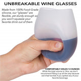 Unbreakable Silicone Wine Glasses BPA-Free Portable Printed Outdoor Wine Cups for Travel Picnic Pool Boat Camping - Pop Up Life