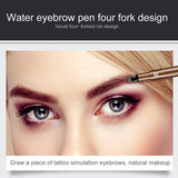 3 Colors Microblading Tattoo Eyebrow Pencil Waterproof Fork Tip 4 Head Eye Brow Pencils Eye Liner Beauty Makeup Tools TSLM1 - Pop Up Life