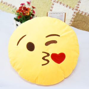30cm Face Emoji Pillow Round Cushion For Sofa Car Seat Home Decorative Cushions - Pop Up Life