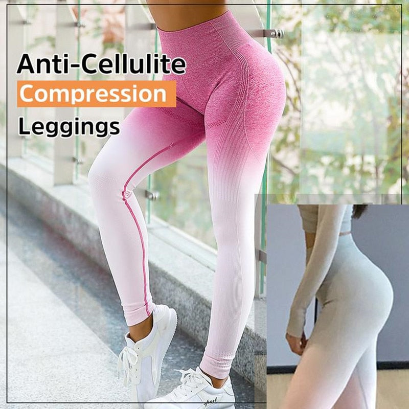 Anti-Cellulite Compression Energy Seamless Leggings Sport Women Fitness Yoga Pants High Waist Stretchy Gym Shark Slim Sport Wear - Pop Up Life