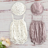 Infant Cotton Kids Clothes Girls For Newborn Baby Summer Baby Outfit With Matched Cap Set - Pop Up Life
