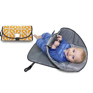 3 in 1 Diaper Clutch Changing Station and Diaper-Time Playmat With Redirection Barrier Camera bag - Pop Up Life