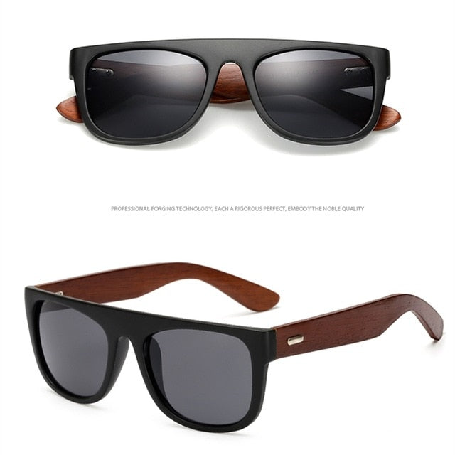 Bamboo Wooden Arms Sunglasses Men Women Black Sunglass Male UV400 Sun Glasses Driver Goggles Wooden Eyewear Shades - Pop Up Life