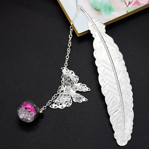 Metal Feather Retro Vintage Bookmark - Pop Up Life