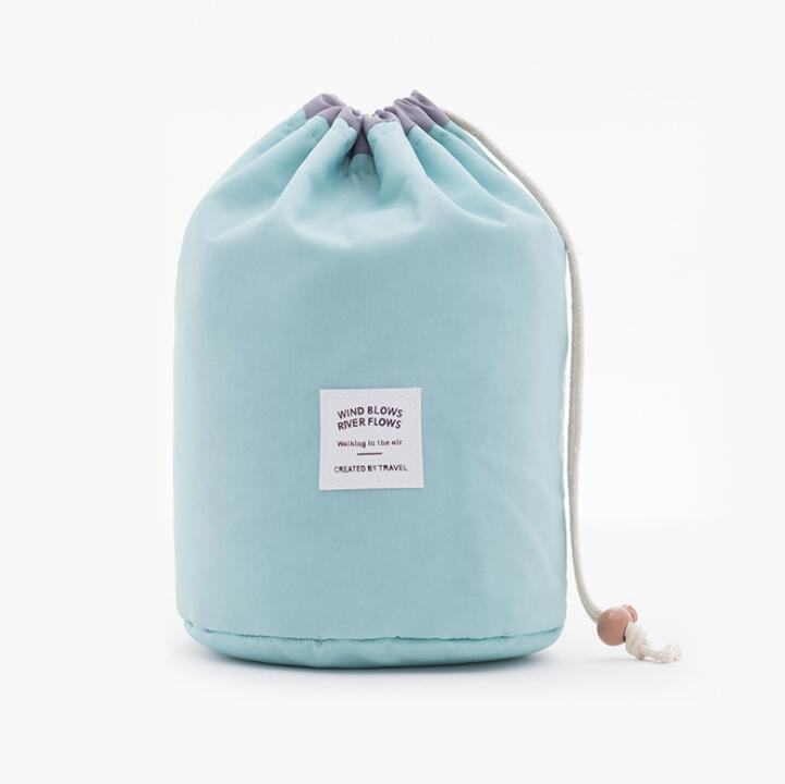 Large Capacity Nylon Lazy Drawstring Storage Bag Toiletry Cylinder Wash Bag Travel Organizer - Pop Up Life