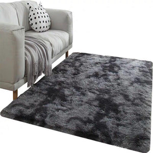Grey Carpet Tie Dyeing Plush Soft Carpets For Living Room Bedroom Anti-slip Floor Mats Bedroom Water Absorption Carpet Rugs - Pop Up Life