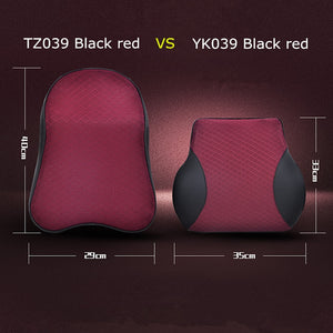 1PCS Memory Foam Cute Car Seat Headrest Pillow Solid For The Neck Rest Waist Back Support Cushion Set Pillows Auto Accessories - Pop Up Life
