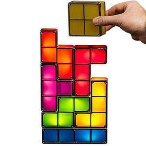 Tetris Night Light Colorful Stackable Tangram Puzzles 7 Pieces LED Induction Interlocking Lamp 3D Toys Gift - Pop Up Life