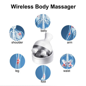 Waterproof Electric Head Massage Wireless Scalp Massager Prevent Hair Loss Body Deep Tissue Kneading - Pop Up Life
