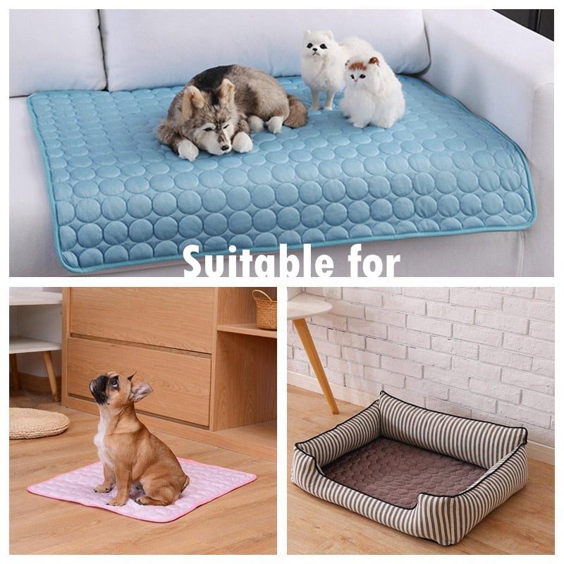 Dog Mat Cooling Summer Pad Mat For Dogs Cat Blanket Sofa Breathable Pet Dog Bed Summer Washable For Small Medium Large Dogs Car - Pop Up Life