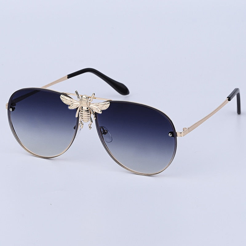 Luxury Brand Designer Sunglasses Women Classic Retro Sun Glasses Gradient Lens Shades Little Bee Eyeglasses Ladies UV400 - Pop Up Life