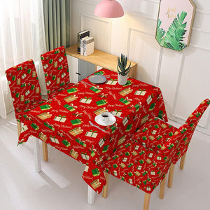 Christmas Table Cloth Polyester Rectangular Tablecloth 3D Printed Table - Pop Up Life