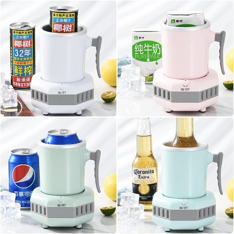 Fast Cooling Cup Mini Chilled Drinks Juice Desktop Quick-Freeze Cooling Office Artifact Student Dormitory Cool Drinks Cup - Pop Up Life