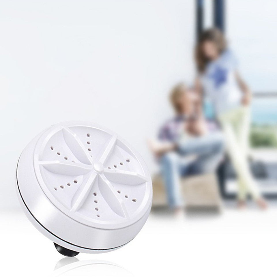 Mini Ultrasonic Washing Machine Portable Turbo Personal Rotating Washer Convenient Travel Home Business Travel USB - Pop Up Life