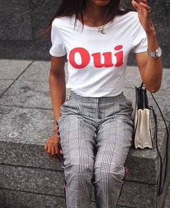 Oui T-Shirt French - Pop Up Life
