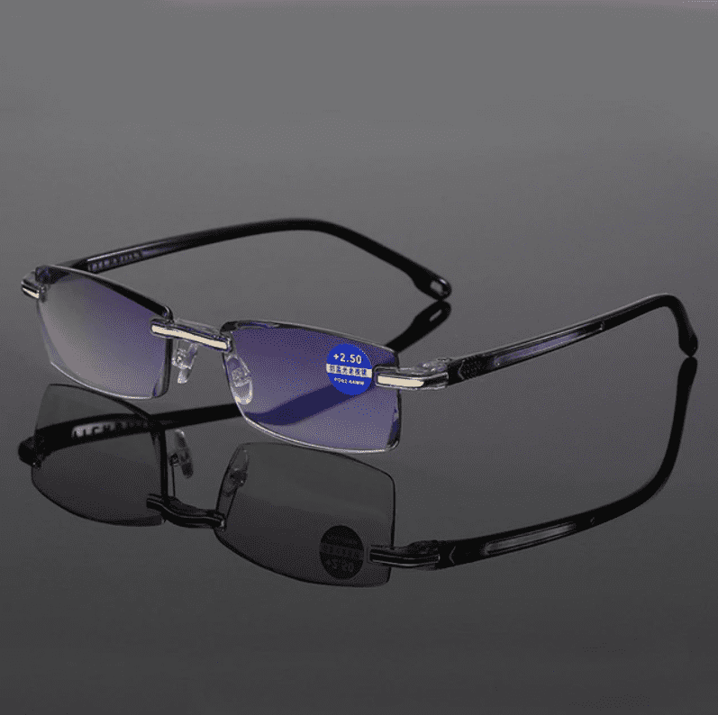 Ahora Anti Blue Light Blocking Rimless Reading Glasses Women Men Square Frameless Presbyopic Glasses Diopters +1.0 1.5 2 2.5 4.0 - Pop Up Life