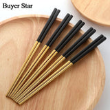 5 Pairs of Stainless Steel Chopsticks - Pop Up Life