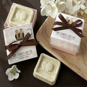 Handmade Owl Design Bath Soap Gift Box