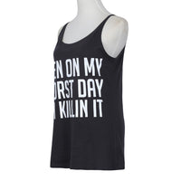 killin it Plus Size tank top Summer Fashion T Shirt Women - WomensPlusSizeShop tops