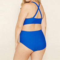 Womens Plus Size swimsuit you can swim with us funny hipster swimwear