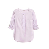 lilac Plus Size Womens Clothing Casual Blouse Long Sleeve Basic pastel purple Top Shirt - WomensPlusSizeShop tops