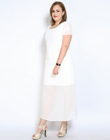 soho Plus Size Womens Maxi Dress Long Summer White Black Side Split slit Casual Clothing - WomensPlusSizeShop dress
