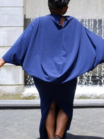 mahalia Plus Size Blue Dress Batwing Sleeve Women's Bodycon dolman - WomensPlusSizeShop dress