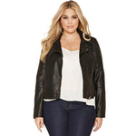 rebel Plus Size vegan Leather Jacket  black moto motorcycle Coat biker faux - WomensPlusSizeShop coat