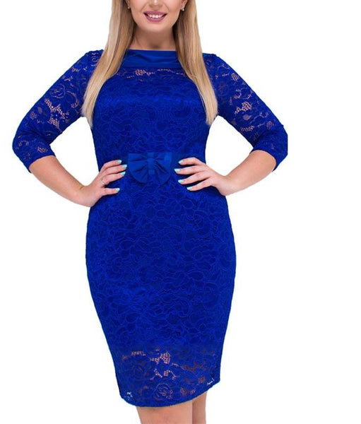 esmeralda Plus Size Lace Dress Women Clothing Fashion Female Blue green party cocktail - WomensPlusSizeShop dress