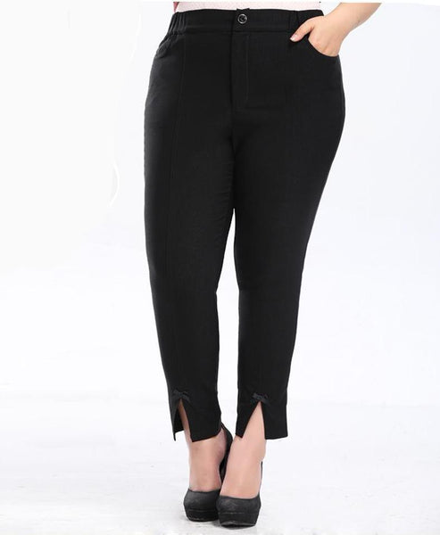khloe black Plus Size skinny Pants Trousers Female Clothing - WomensPlusSizeShop bottoms